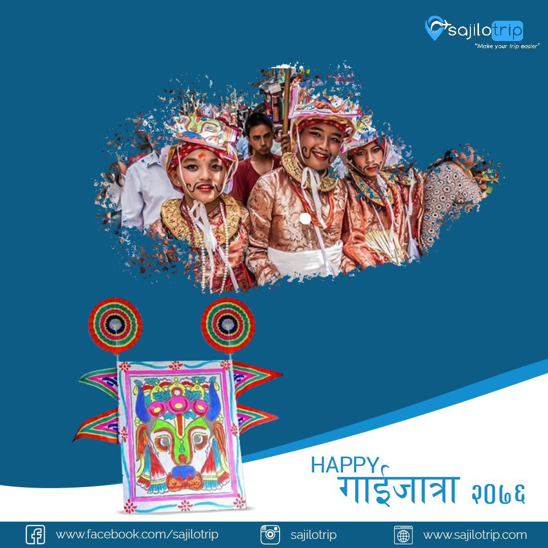 Gai Jatra | Happy Gai Jatra | Unique festival to commemorate death with humor, dance, and laughter 🙏#sajiloinfo #sajilowish #sajilostory #sajilotrip#makeyourtripeasier #sajiloshot #VisitNepal2020 #OnceIsNotEnough #Gaijatra #Nepal #Festival #Culture #gaijatra #gaihatraspecial