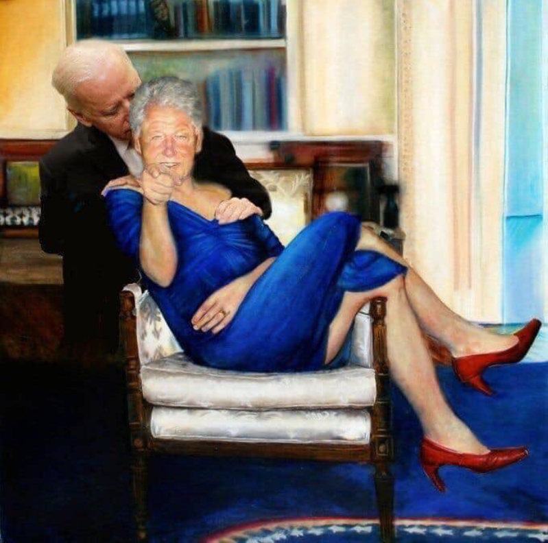 Creepy Uncle Joe is out of control!