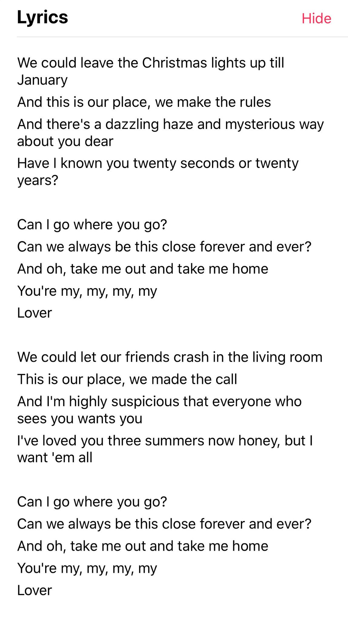 Taylor Swift News On Twitter Full Lyrics To Title Track Lover Out Now From Applemusic