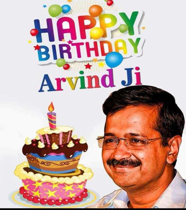 Happy Birthday Arvind Kejriwal ji Delhi ke Dilo ka Raja