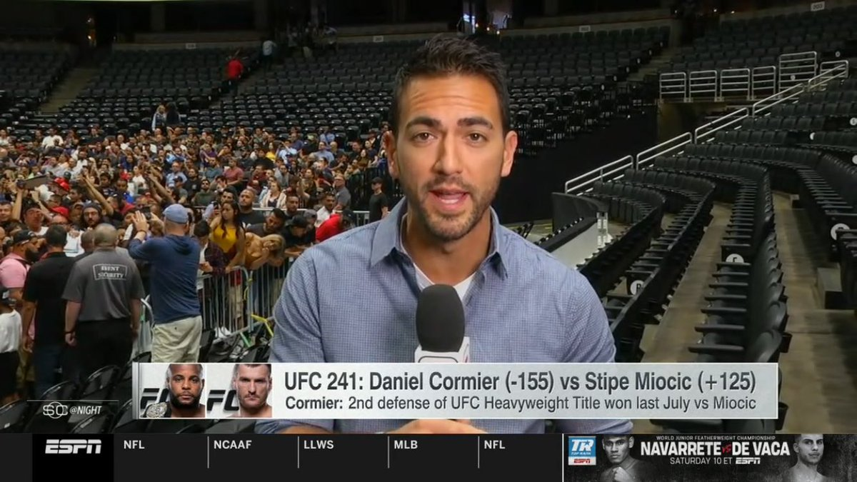 Great to see @bokamotoESPN on @SportsCenter just now talking #UFC!! @espn