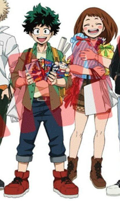 They look so cute standing together like this It looked like they went on a shopping spree together with Uraraka even accompanied Deku to buy every All Might merchs that he found   #izuocha <br>http://pic.twitter.com/nJV7nx5waM