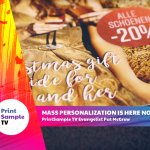 Image for the Tweet beginning: Mass personalization is here today