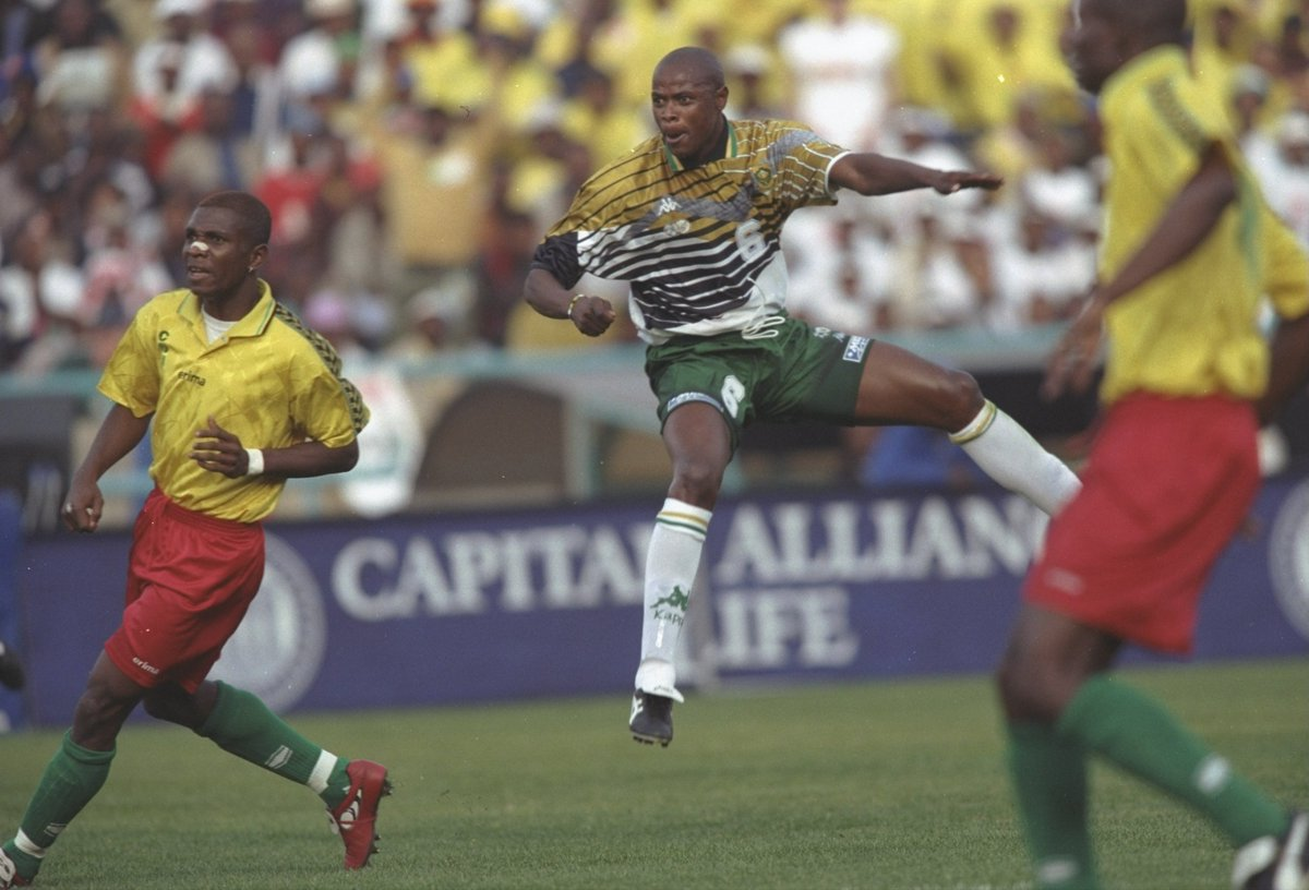 #OnThisDay in 1997 This Phil Masinga screamer against Congo took @BafanaBafana to their first-ever #WorldCup 🚀🇿🇦🏆