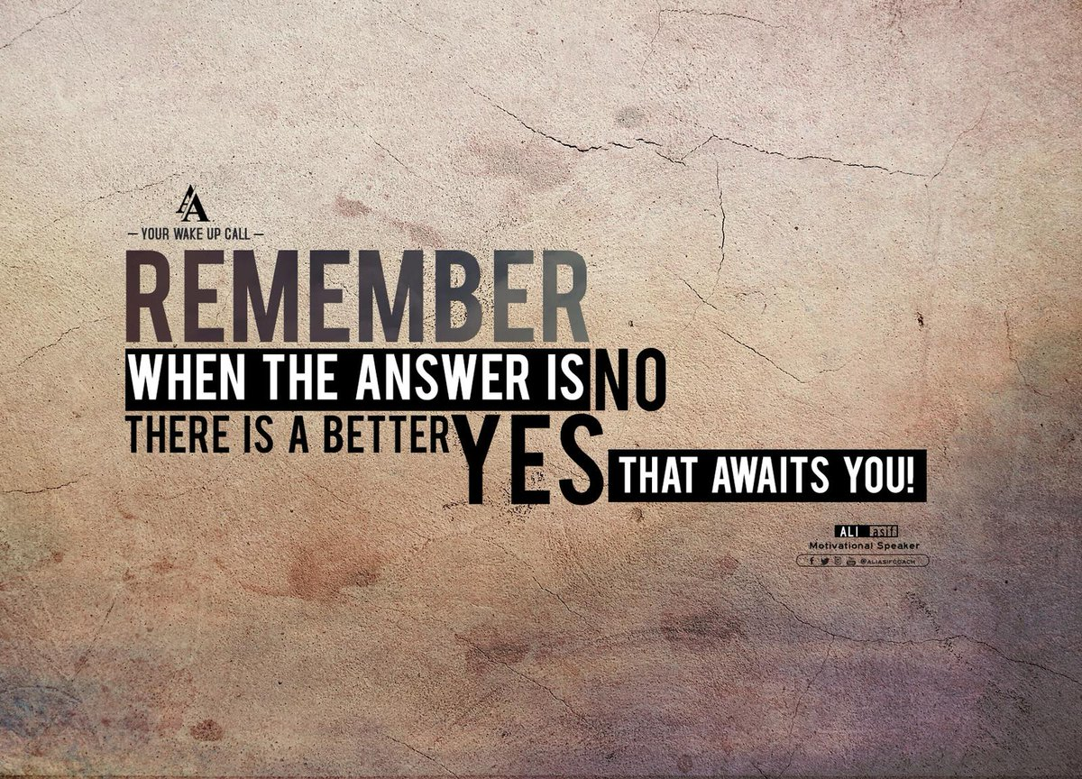 Remember when the answer is no there is a better yes that awaits you! #FridayFeeling #BlessedFriday #FridayThoughts #FridayMotivation<br>http://pic.twitter.com/Mk2eGDEdbR