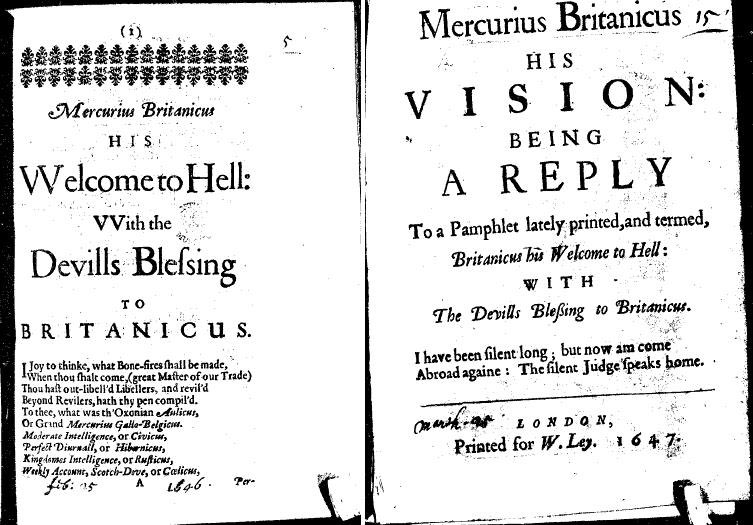 #OnThisDay 16 August 1643, the first issue of the Parliamentarian newsbook 'Mercurius Britanicus' was published. Both sides during the #EnglishCivilWar produced large quantities of printed propaganda; arguably it was the first #FakeNews war in English. #17thCentury #OTD<br>http://pic.twitter.com/2LeW0yB9XN