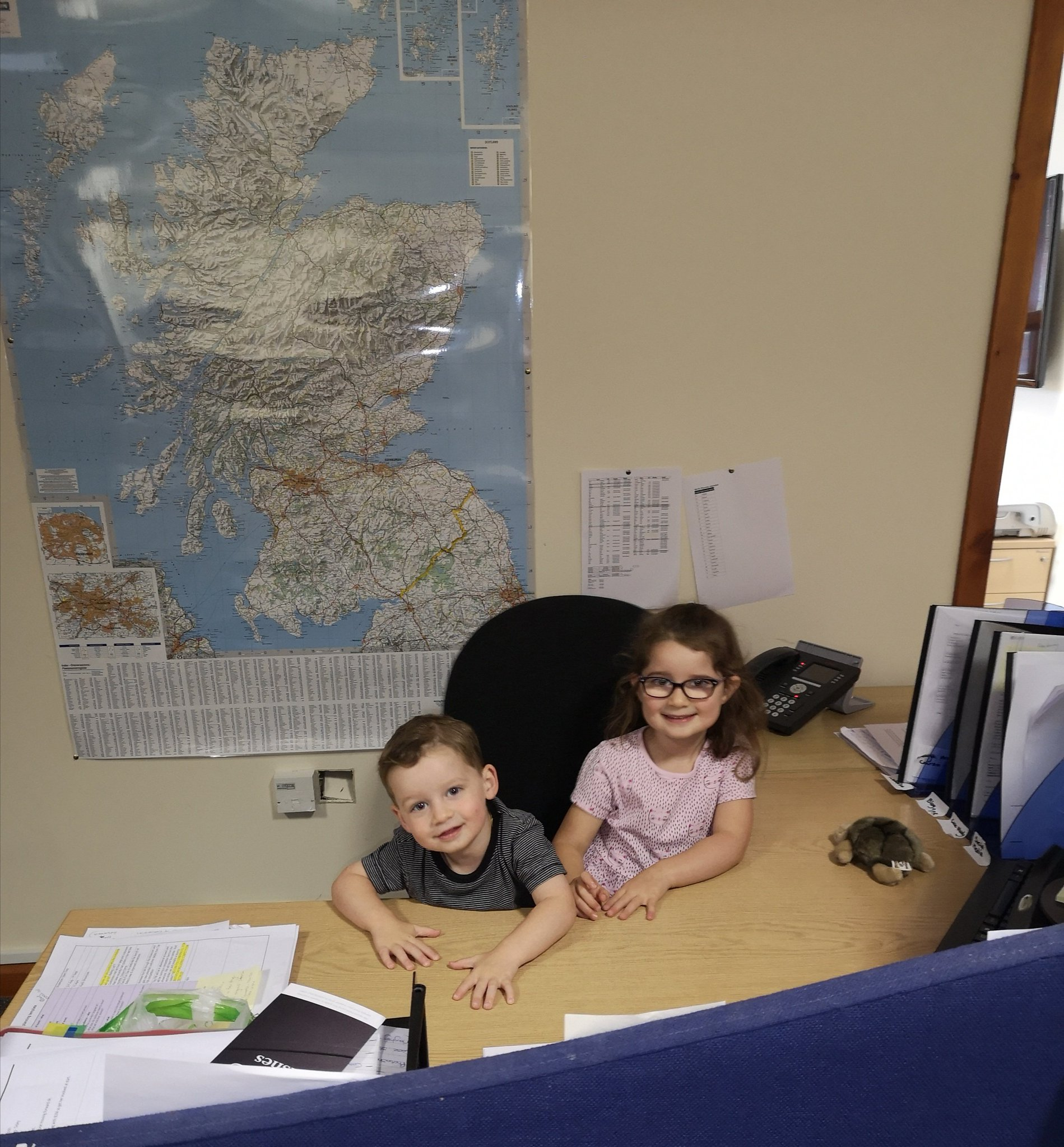 Two of Sidey's youngest and cutest recruits in the marketing office. ???? Have a great day! https://t.co/TFkNgInrF7