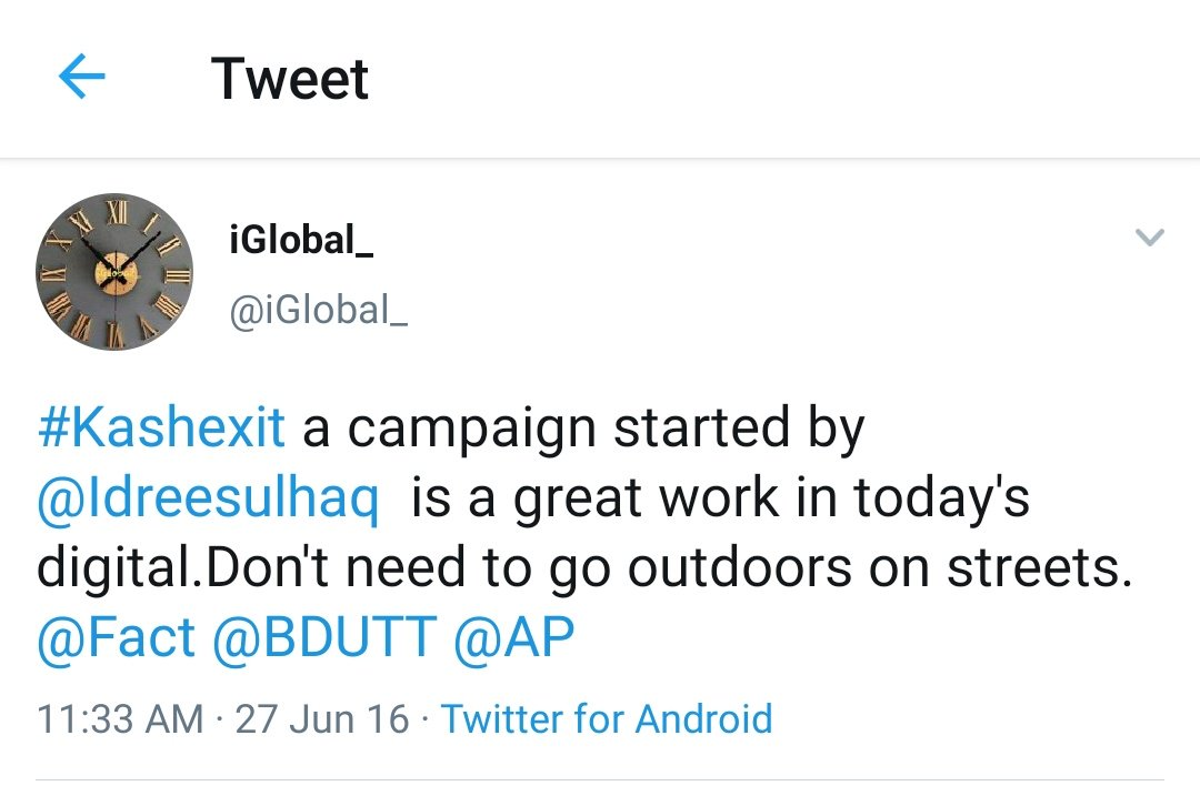 RT iAnkurSingh: Coincidentally BDUTT found the person who was started online campaign of #KashExit demanding separation of Kashmir.   Coincidentally Barkha knew him from long too.  So much coincidence you see :) https://twitter.com/erbmjha/status/1162247093299245056…