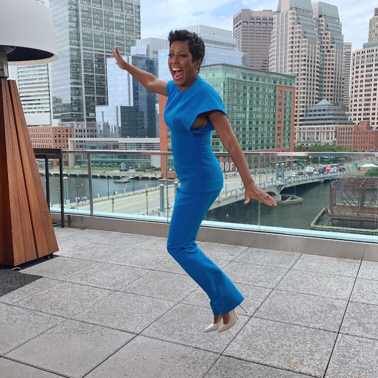 Have a great Friday y'all. I'm jumping into the weekend like this after a huge week for @tamronhallshow promo tour. Philly! Boston! New England!!!!!! @6abcactionnews @wcvb5 @wmur9 @wmtwtv @mynbc5