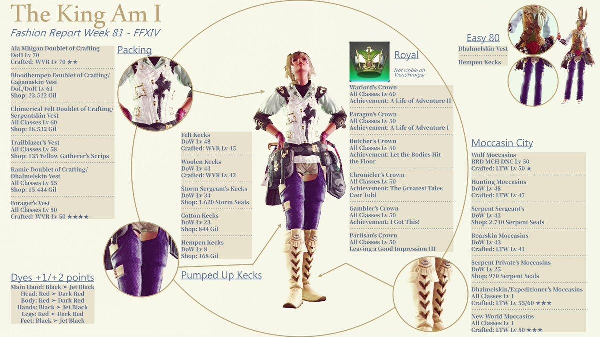 Fashion Report - Week 81 #FFXIV #ff14 #ffxivFashionReport