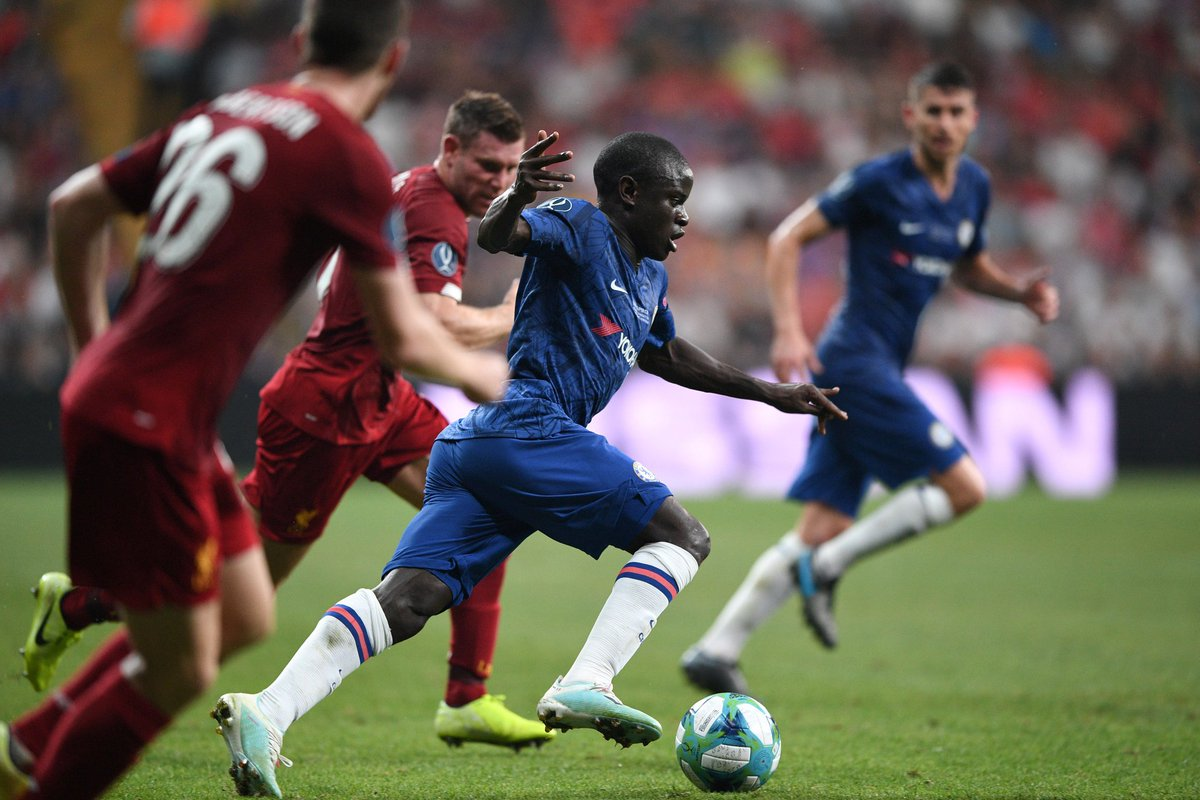 """Frank Lampard on Kante: """"He has too much in his game to sit deep all game"""".   He is not a defensive midfielder, he is a world class centre midfielder. 😉"""