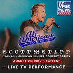 Image for the Tweet beginning: Excited to perform on @foxandfriends