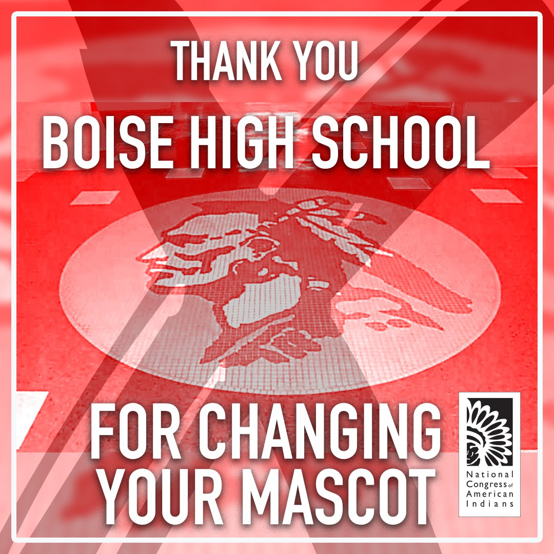 With overwhelming public testimony and a unanimous vote by the school board for the Boise School District, Boise High School will have a new mascot for the upcoming school year. #ChangeTheMascot #PositiveChange  http:// bit.ly/2NagKVt    <br>http://pic.twitter.com/UuGvuU7P90