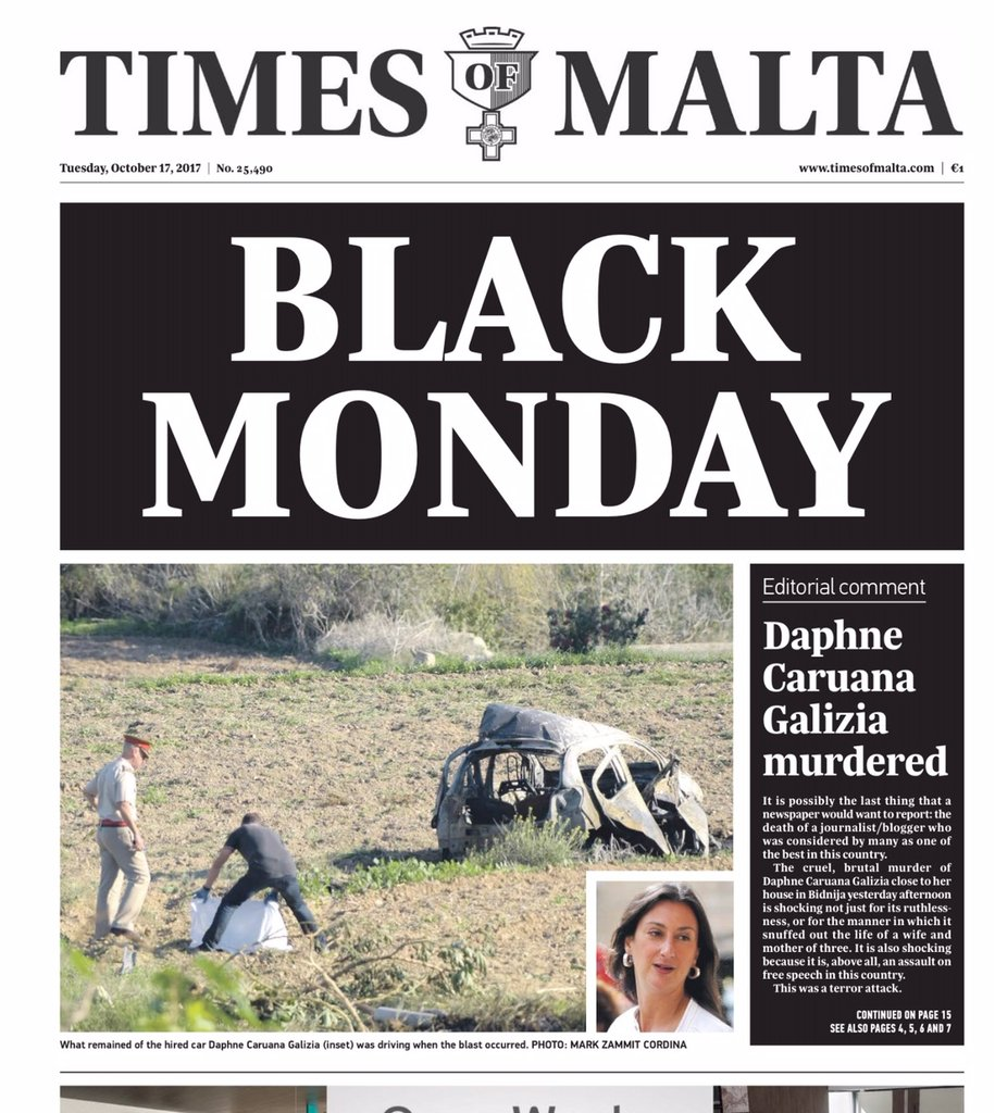 22 months ago: To silence a journalist they killed amother, a daughter, a sister, a wife. The masterminds remain at large. But we remember and we will not stop demanding justice, truth and accountability - however long it may take. #Malta #DaphneCaruanaGalizia