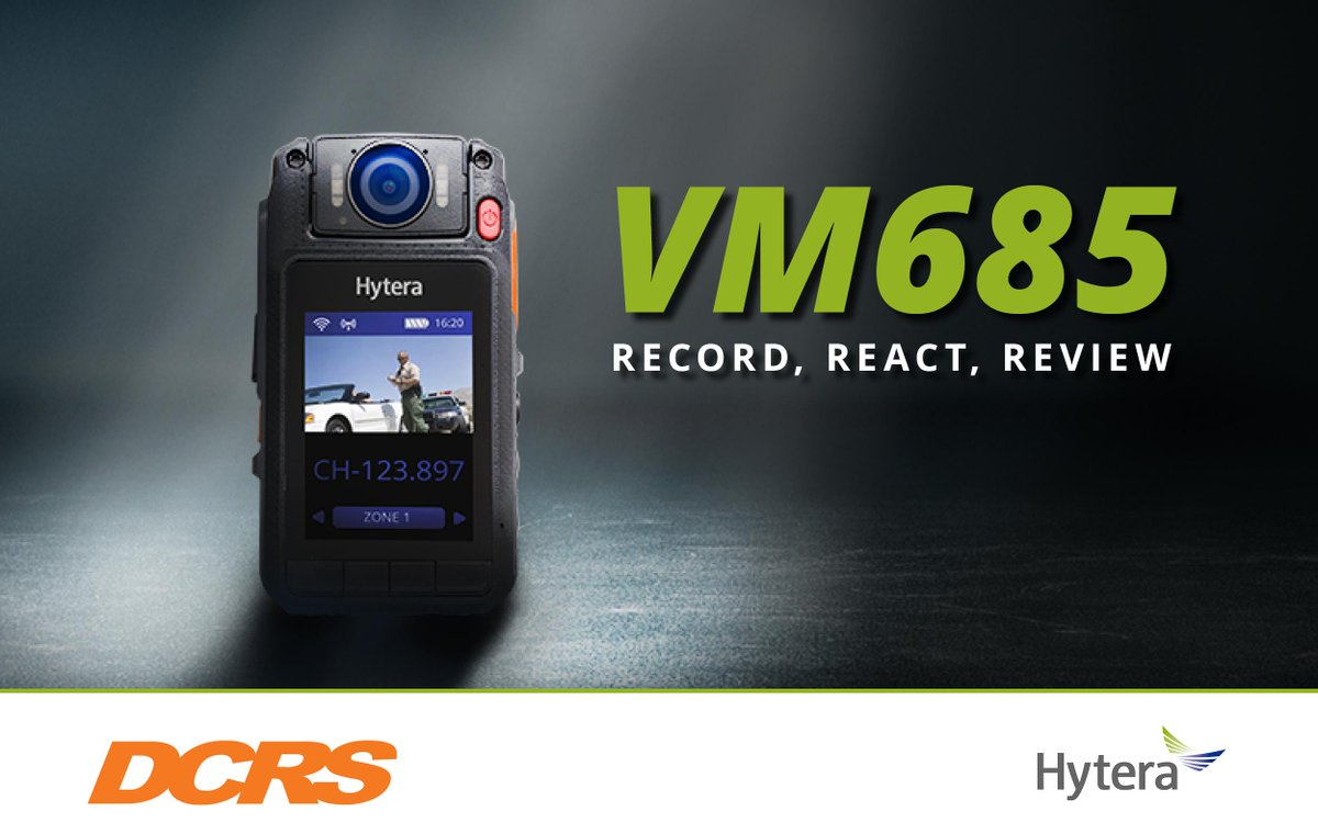 Featuring a 180 ° rotatable lens and powerful battery, which supports up to 8 hours recording, the VM685 #bodycam is your ideal partner for making quick PTT calls whilst encrypting, capturing and transferring High-Definition video evidence in Realtime > https://t.co/d9SS3X86as