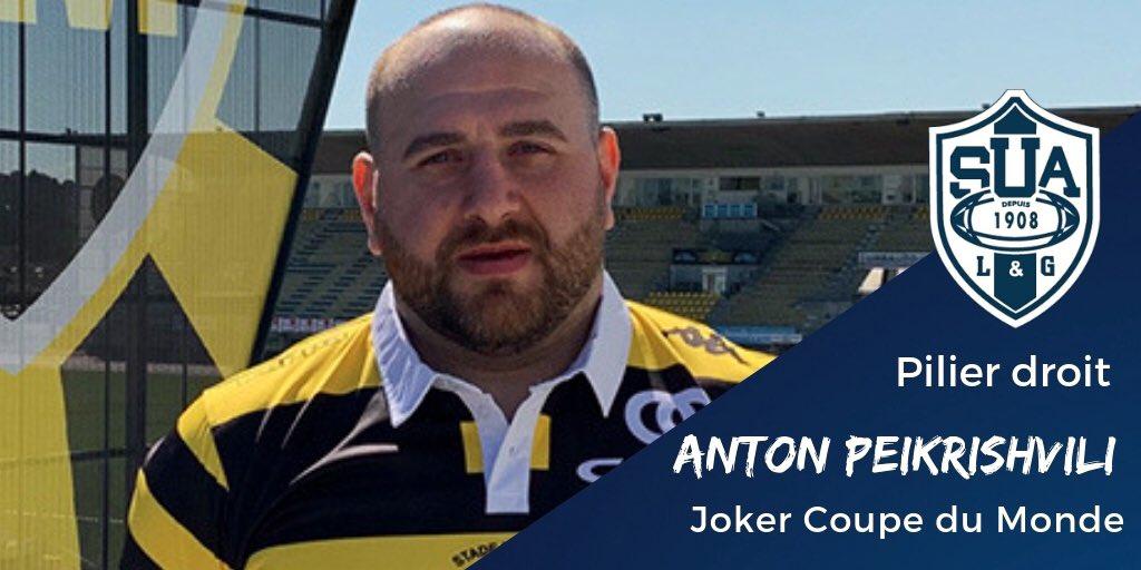 Pour renforcer l'axe droit de la mêlée, le @agen_rugby fait appel à l'expérimenté Anton Peikrishvili !