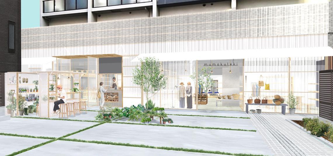 「いきるをつくる」をコンセプトにしたカフェとアパレルが併設するショップ「mumokuteki大阪店」が大阪中崎町に今...