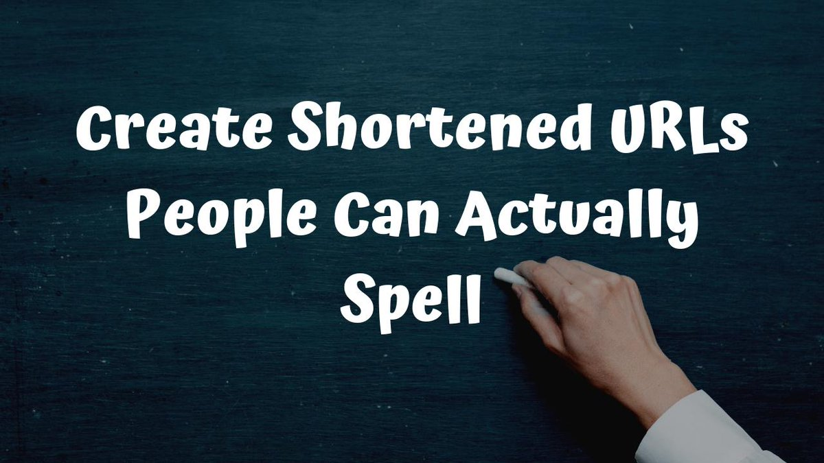 Three Ways to Create Shortened URLs People Can Actually Spell freetech4teachers.com/2019/08/three-…