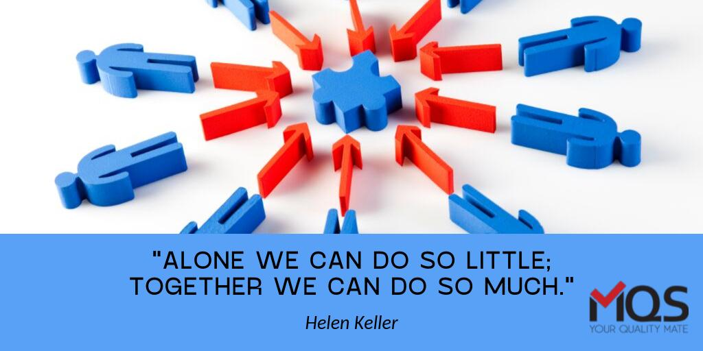 """""""Alone we can do so little; together we can do so much."""" – Helen Keller  #FridayQuotes #Collaboration #MQS<br>http://pic.twitter.com/EUhgFlDjEn"""