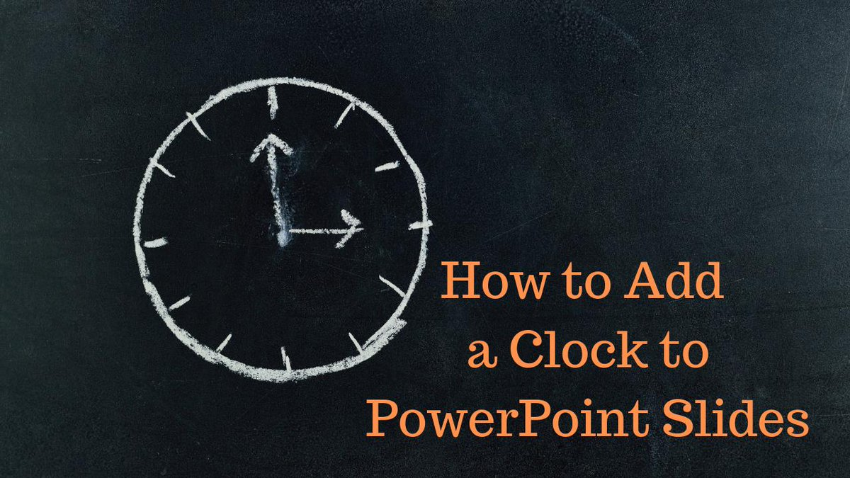How to Add an Animated Clock to PowerPoint Slides freetech4teachers.com/2019/08/how-to…