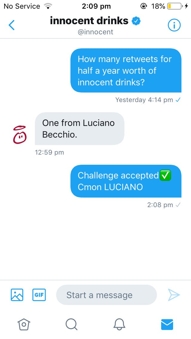 @becchioluciano All I need is a RETWEET of you Luciano please so I can get half a year supply of innocent drinks. Leeds fans share please so we can get this to Luciano MOT LUFC💙💛