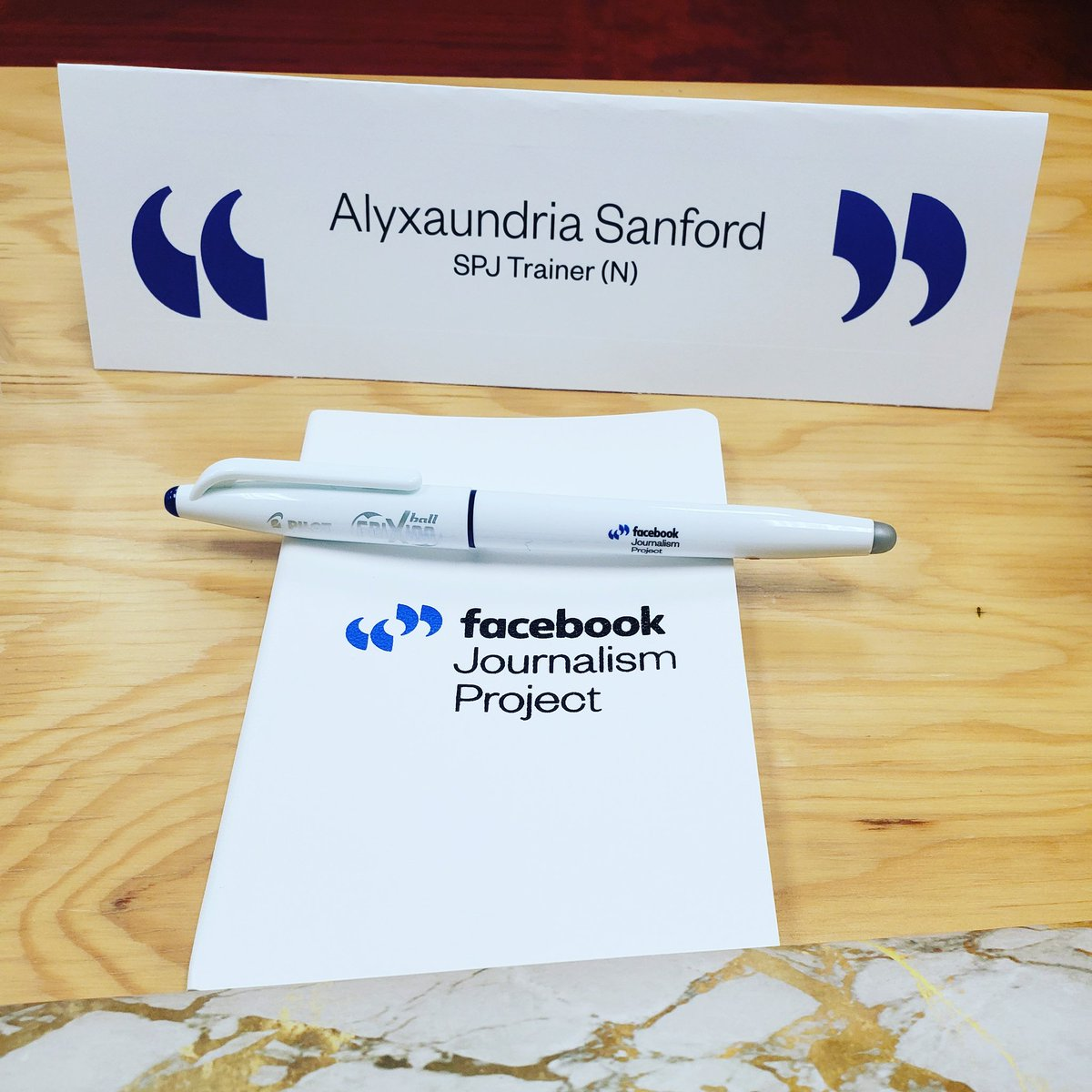 Yesterday was my first day of training for the SPJ/Facebook Journalism Project. They send us to newsrooms and colleges across the country to offer FREE digital training. Super excited for day 2! #trainingday <br>http://pic.twitter.com/uxLUFwqBxE – à Facebook NY