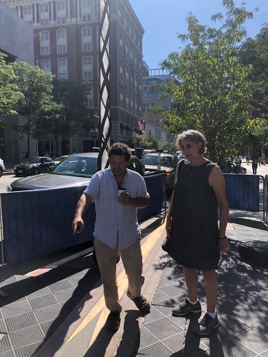 Boston will soon commemorate the #bostonmarathon victims with sculptures at the bombing sites. Here is sculptor Pablo Eduardo explaining his moving and evocative design to ⁦@qerese⁩.<br>http://pic.twitter.com/Su5aZckFLB