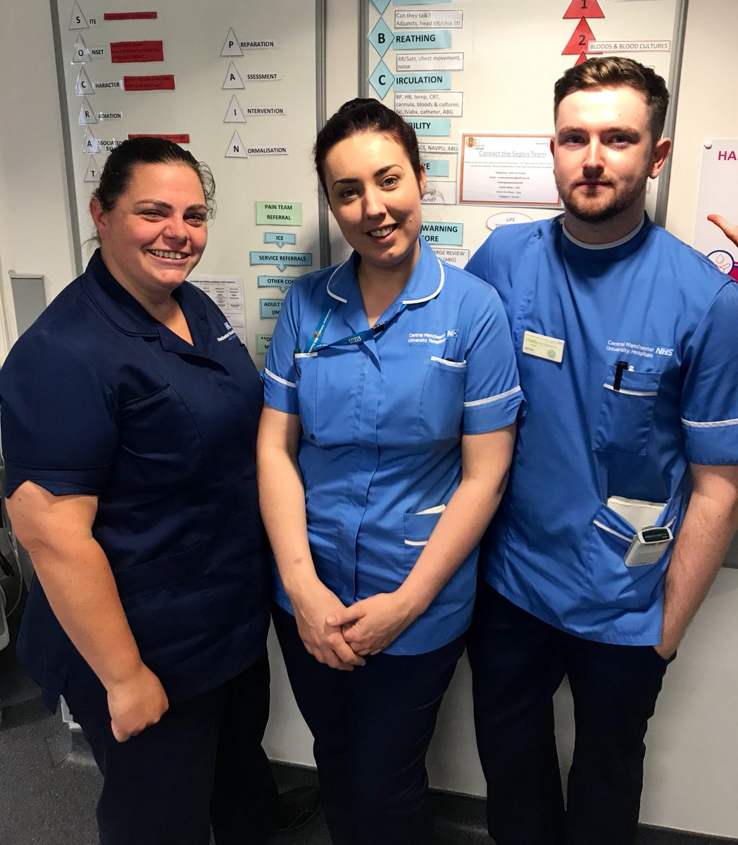 Kerry, Vikki and James do a sterling job looking after patients on @MFT_Ward11and12. Kerry is about to go on annual leave but she knows her wards are in good hands! #peopleofMRI #teamGIMS #teamwork
