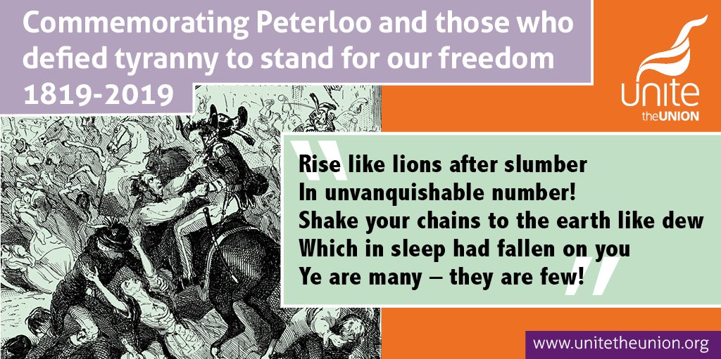 Peterloo was when we began the journey to working class representation and respect, when working people stood up for democracy and economic freedom. The ruling class prefers to sweep it and all brutal injustices under the table, which is why we must teach and tell our own history