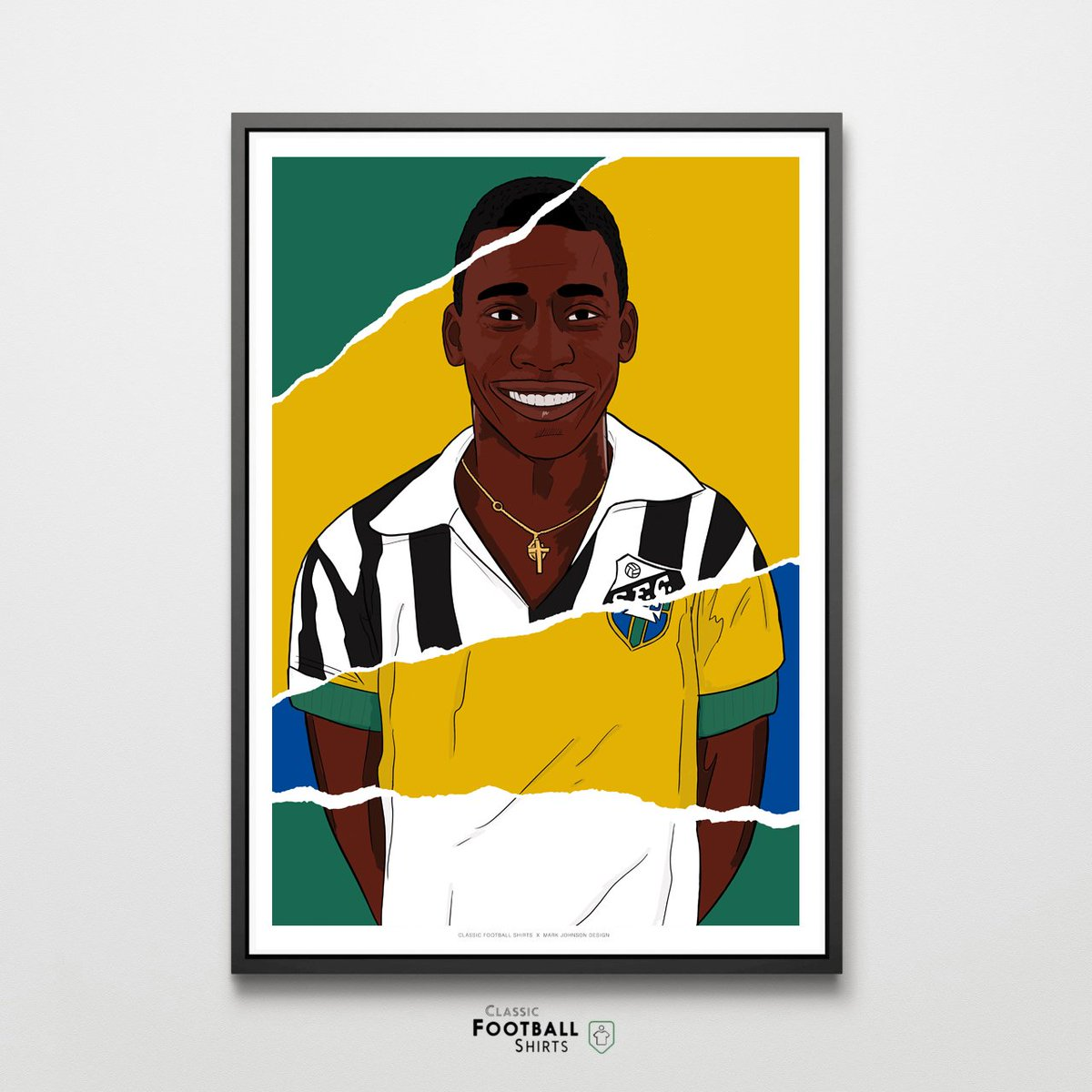 New in prints: Career in Shirts by @MarkJohnson_ Weve just added Pele, Johan Cruyff, Lothar Matthäus and Michel Platini See the full range here - ow.ly/b6bz50vytTC