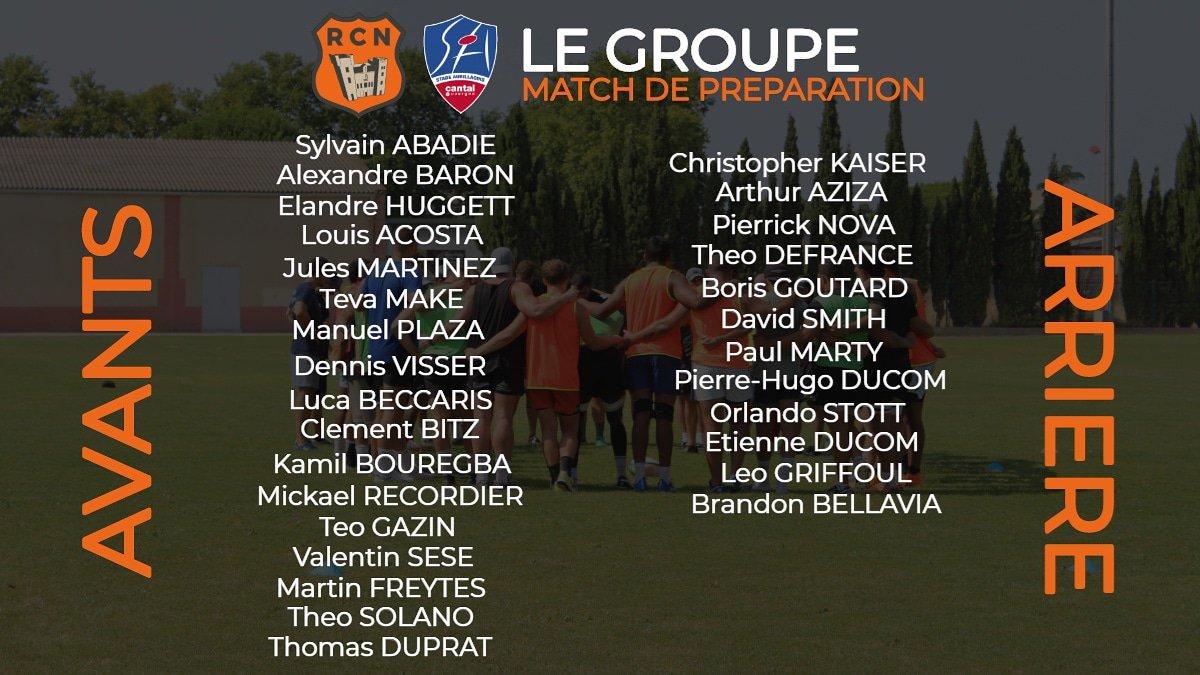 Le groupe retenu par Patrick Pezery et Laurent Balue pour le deuxième match de...