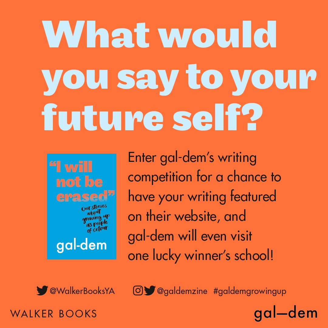 **COMPETITION KLAXON** Calling all teachers and librarians, our writing competition with @galdemzine has been extended to run until 18th October to give you a chance to share with any aspiring writers you teach! Details can be found: walkerya.com/gal-dem-compet…