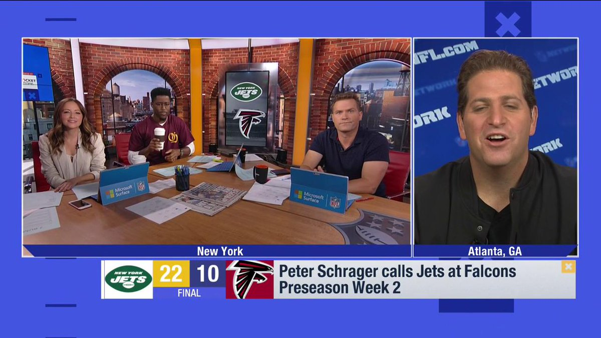 """""""This @nyjets offense won't just be Le'Veon Bell. The Jets coaches are excited about @_WiFi_Ty_. They loved seeing @youngamazing9 make a tough catch across the middle. @QuincyEnunwa made a big grab. This is a deep and well-rounded offense; not a one-man show."""" — @PSchrags"""