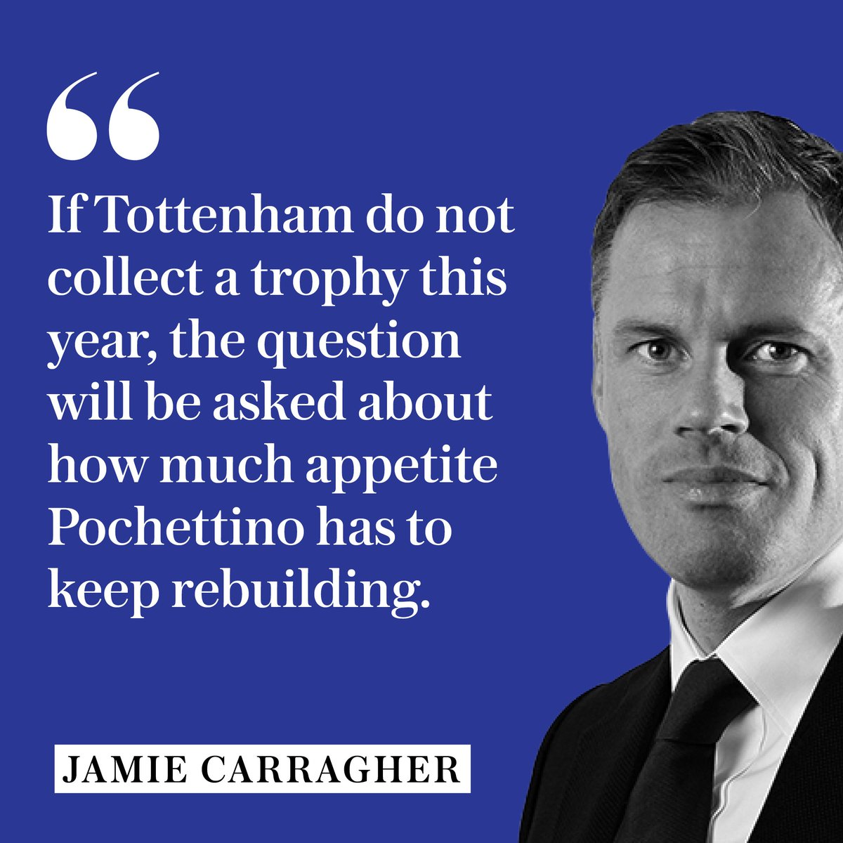 Jamie Carragher: Christian Eriksen is not at Real or Barcas level - losing Harry Kane would be far more damaging #THFC telegraph.co.uk/football/2019/…