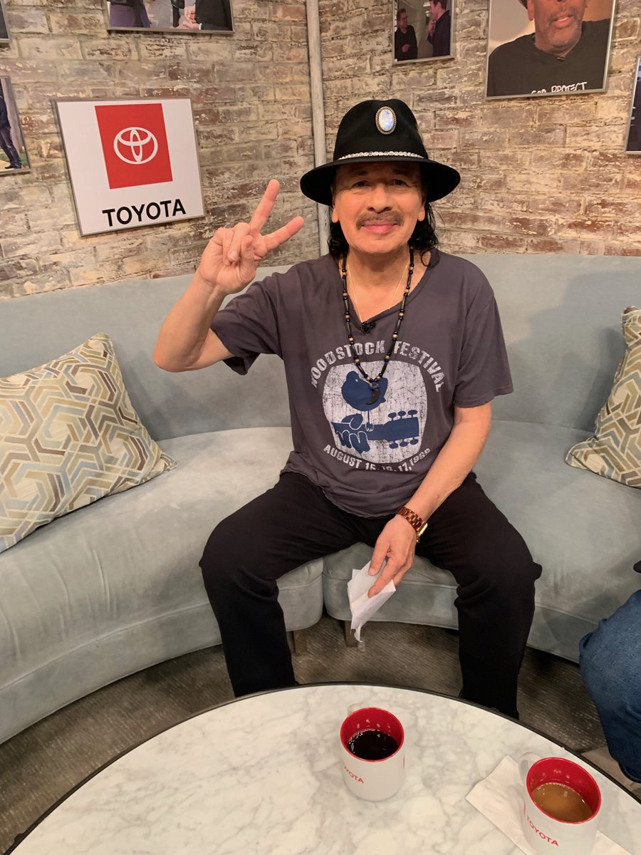 """Maria Mariaaaa!"" ⁦@SantanaCarlos⁩ is in the house and will join us LIVE ahead of #Woodstock50. https://t.co/xT5aOqBzCO"
