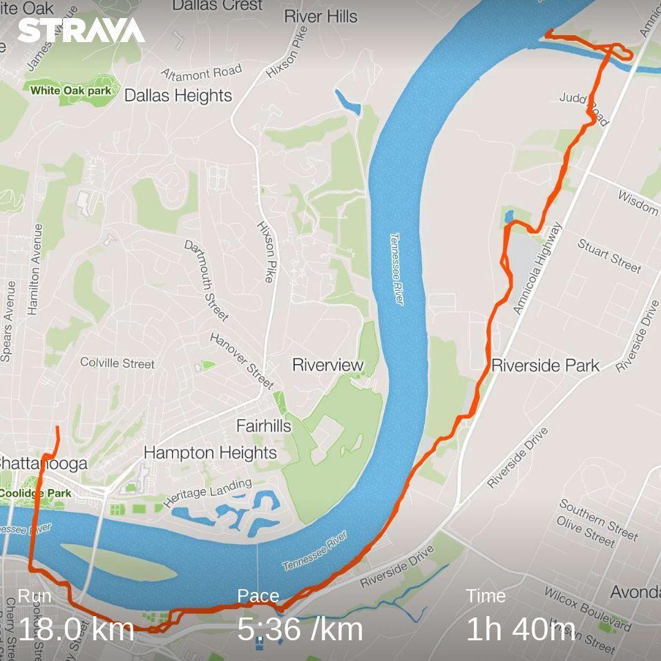 1348/1600. #Chattanooga 18k morning run. https://t.co/uatnVBh7Yt https://t.co/BzrsIQJ2Gc