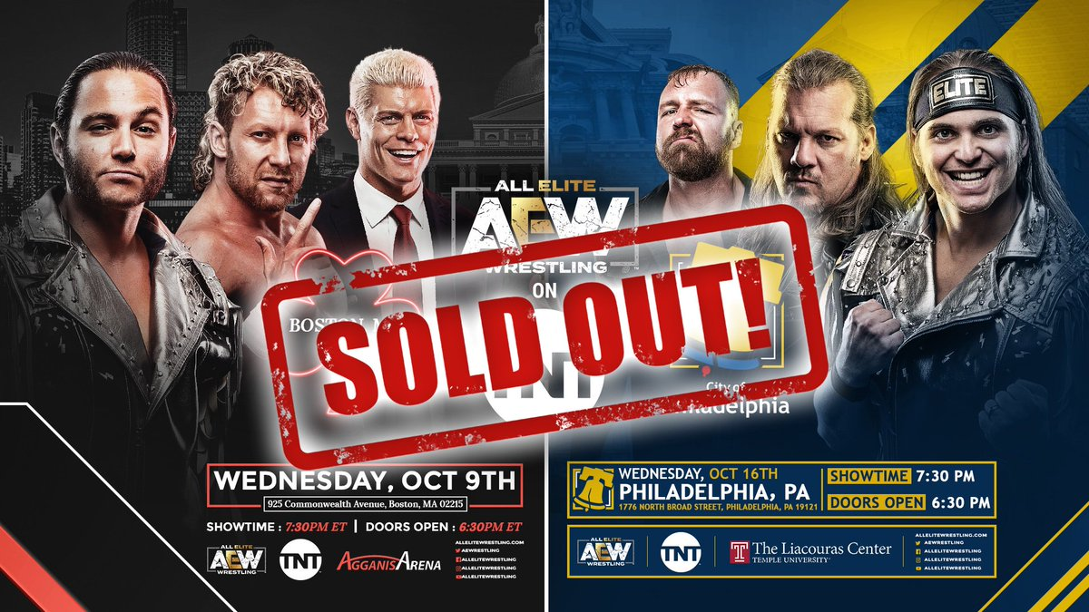 AEW Stays Hot, Sells Out TNT Shows In Boston And Philadelphia