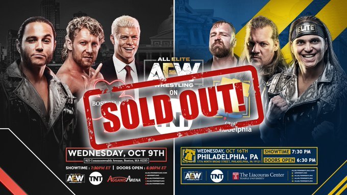 AEW Announces Sell Outs For Second And Third TNT Tapings