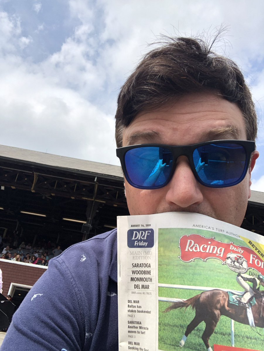 """This is my """"first time at Saratoga"""" face."""