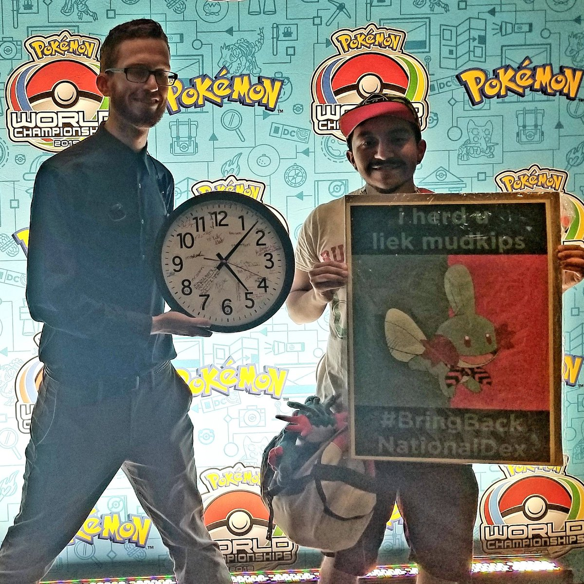 You already know I came to protest! Ft. Future CEO #PokemonWorlds #BringBackNationalDex <br>http://pic.twitter.com/VIkdAra4gD – à Walter E. Washington Convention Center