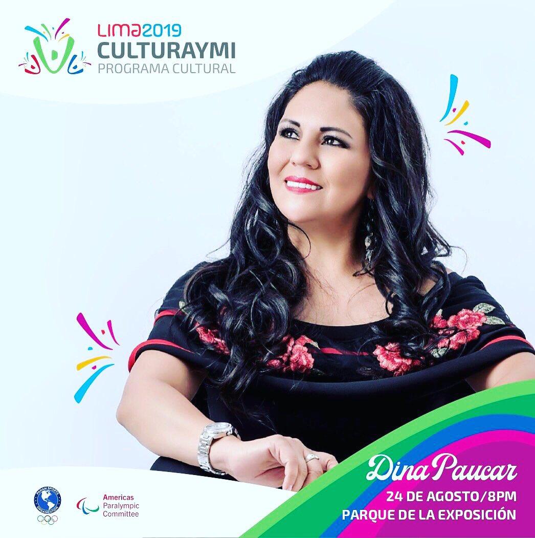 Feliz y orgullosa de anunciar que formaré parte del programa cultural CULTURAYMI de los Juegos Parapanamericanos #Lima2019 🇵🇪❤️  El Sábado 24 de agosto estaré cantando en el Parque de la Exposición y todos están cordialmente invitados a partir de las 8 pm para cantar y bailar https://t.co/I2saP9F6U6