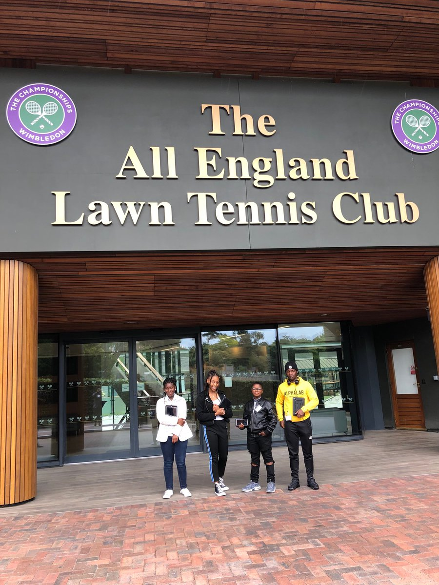 Hello! We are Cherise, Shavon, Gabriel and Victor and we are Wimbledon's Young Press Team today! Follow along to see what we get up to... #TakeoverDay #teenagers #digital #takeover