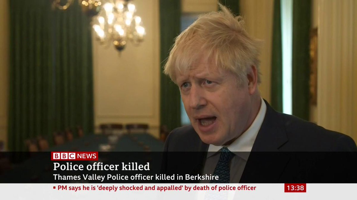 """Boris Johnson pays tribute to PC Andrew Harper's bravery, calling his killing while investigating a reported burglary """"a mindless and brutal crime""""http://bbc.in/31Hbrks"""