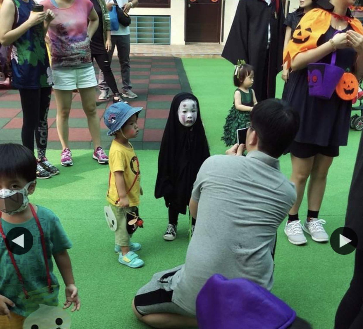 子供じゃなくても泣いてしまう?ハロウィンでカオナシのコスプレをする幼稚園児www
