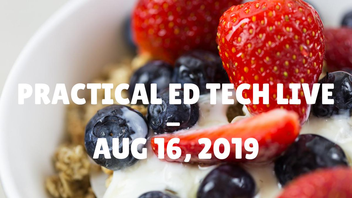 ICYMI - Practical Ed Tech Live Recording freetech4teachers.com/2019/08/icymi-…