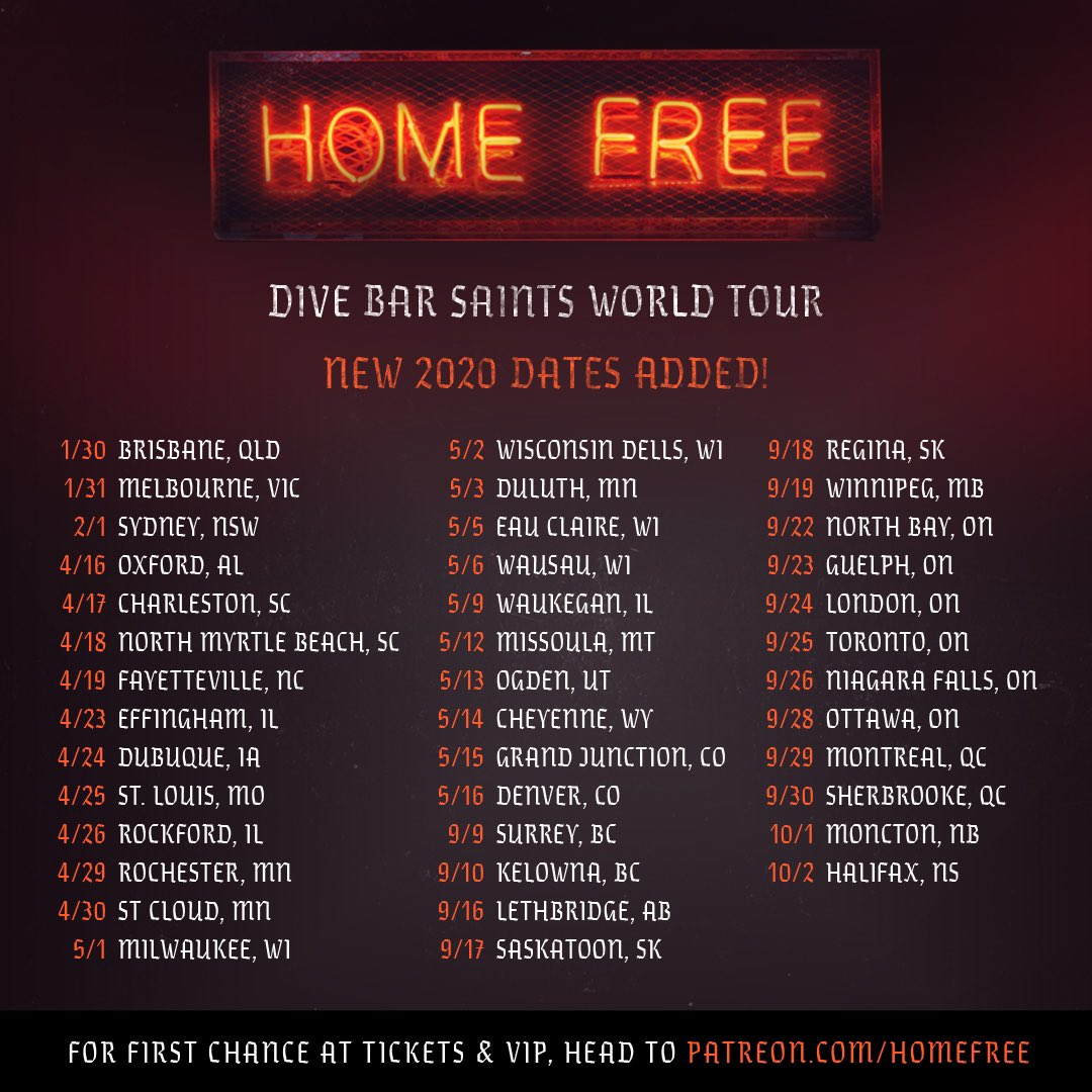 Home Free Tour 2020.Home Free On Twitter So Many New Tour Dates Our