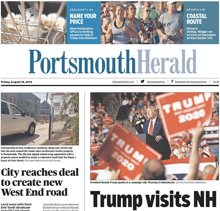 From the Portsmouth Herald: Trump visits NH.
