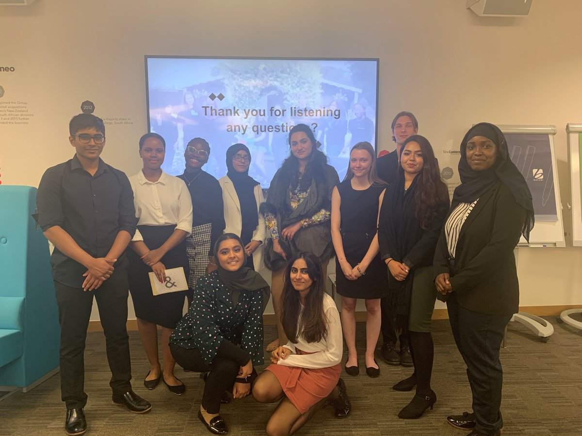 We're feeling proud of our amazing interns who just delivered an insightful presentation on youth unemployment and #socialmobility. Today is their last day on our #InternToWork programme - congratulations and best of luck everyone, its been a pleasure working with you.😀🎉👏