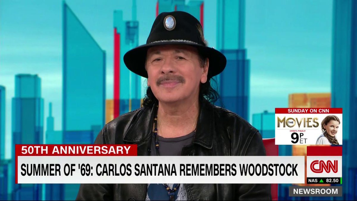 """The heart is the passport and love is the currency.""  Carlos Santana calls for a borderless world while discussing immigration policy and reflecting on Woodstock's 50th anniversary. https://t.co/D0YbyuhutI https://t.co/QwN01tHESf"