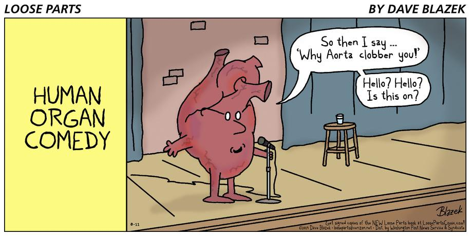 Yeah, I know ... not the most sophisticated joke. But when your daughter is training to be a cardiologist, you have to toss her something to hang up in the hospital. #cardiology #hearthealth #comicstrip #standupcomedy @DocSavageTJU<br>http://pic.twitter.com/yvopoQuUQk